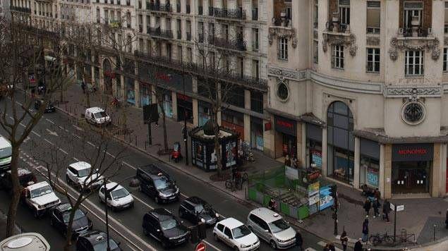 Le boulevard Sebastopol à Paris