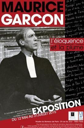 Affiche expositon Maurice Garçon - musée du barreau de Paris