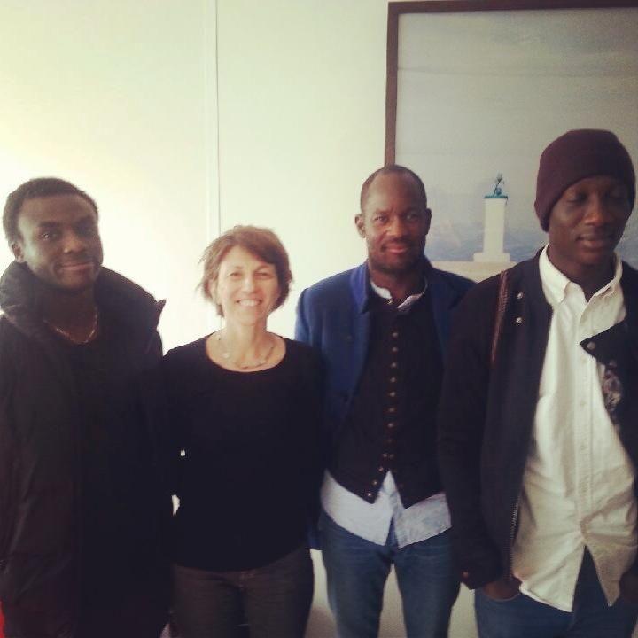 Josué Ndofusu Mbemba, Blandine Savetier, William Edimo et Souleymane Sylla