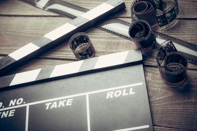 Clap de cinéma - Illustration