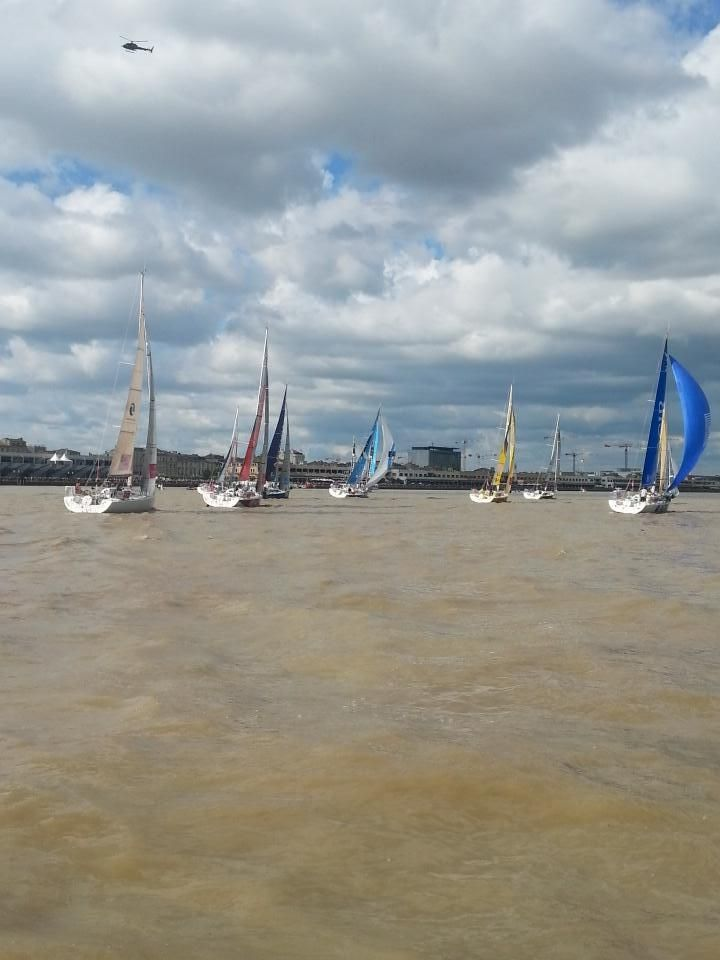 Les bateaux de la Solitaire du Figaro lors du prologue à Bordeaux