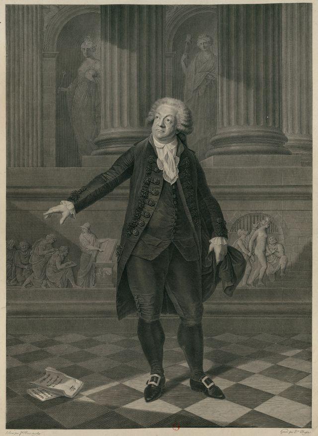 Portrait de Mirabeau d'après Étienne Beisson - 1798