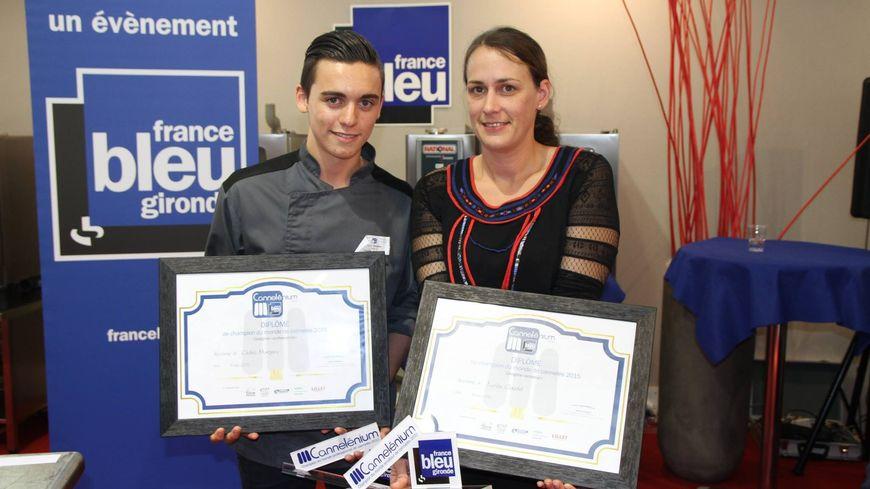 Les deux lauréats du championnat du monde de cannelés édition 2015