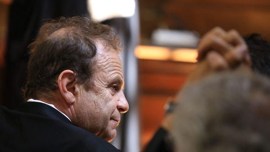 François-Marie Banier avant l'énoncé du jugement du tribunal correctionnel de Bordeaux