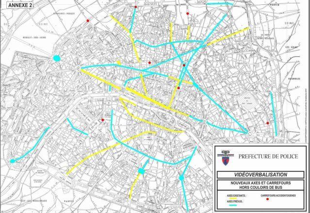 Carte vidéo verbalisation 34 axes en plus à Paris