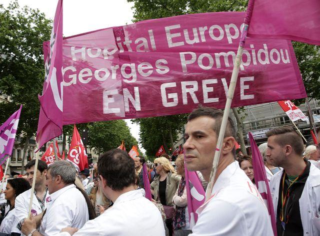 Paris, le 28 Mai 2015 - Rassemblement du personnel de l'AP-HP