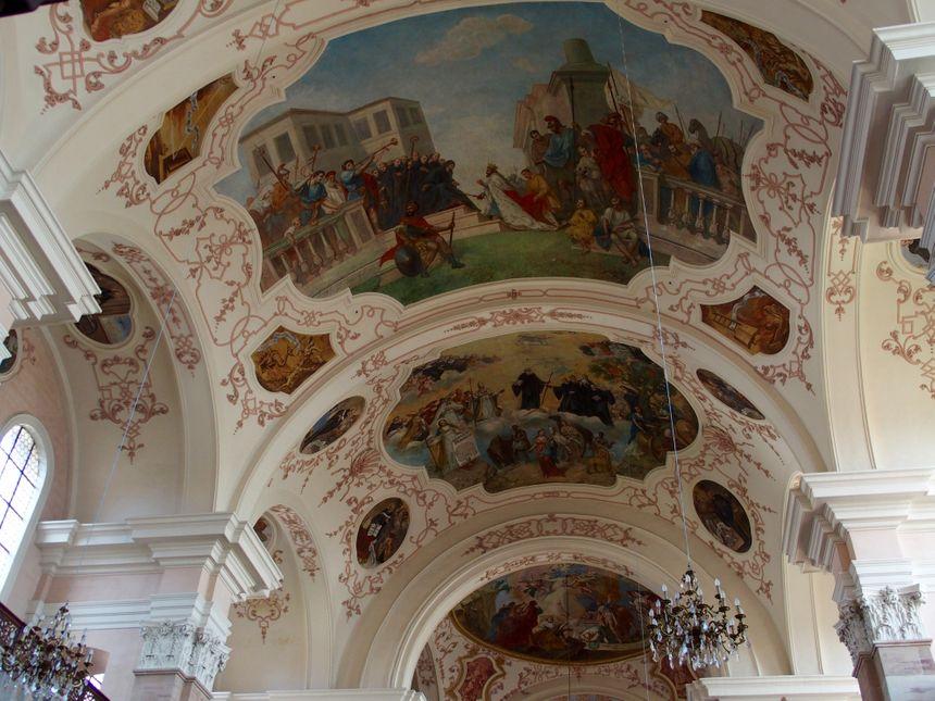 Ebersmunster, baroque jusqu'au plafond