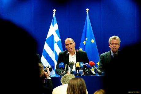 Le ministre grec des finances à Bruxelles