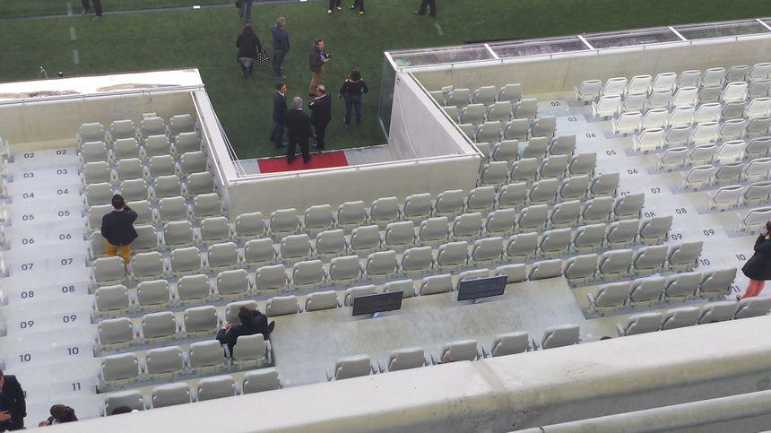 La tribune présidentielle du Nouveau Stade de Bordeaux
