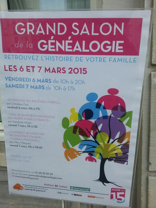 Grand salon de la généalogie