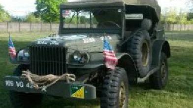 Command Car : vehicule de commandement et de défilé pour Général. Vehicule datant de 1944.