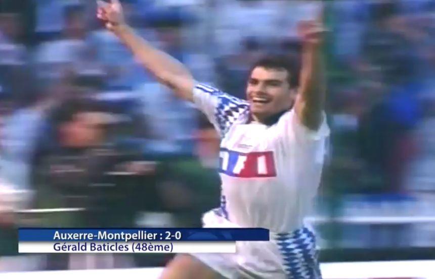 Gérald Baticles, auteur du deuxième but auxerrois en Coupe de France en 1994 face à Montpellier.