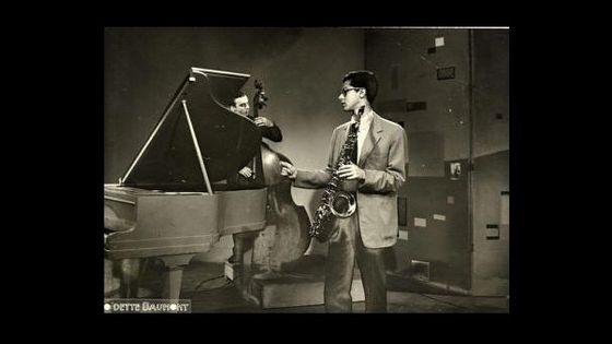 Barney Wilen sur le plateau de télé-Paris le 25-6-1957 ©O'dette Baumont