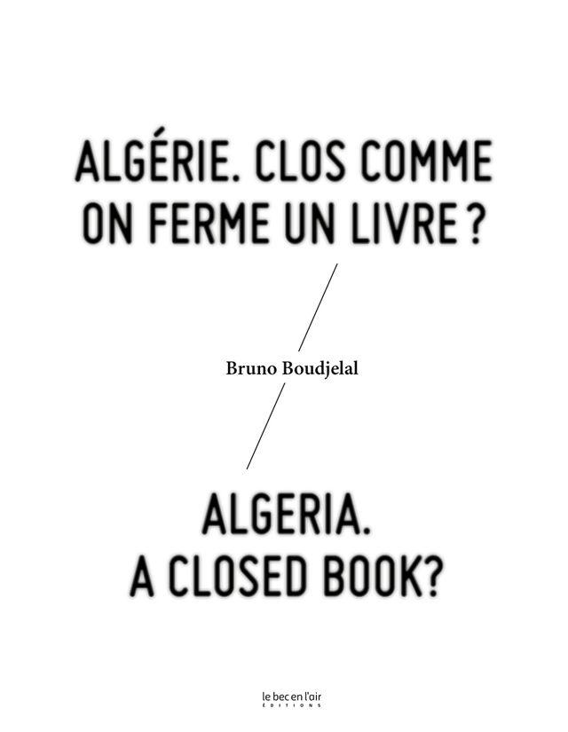Algérie, clos comme on ferme un livre
