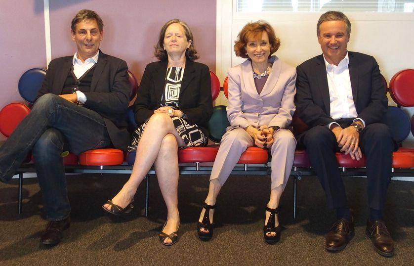 François Ernenwein, Pervenche Berès, Noëlle Lenoir, Nicolas Dupont-Aignan