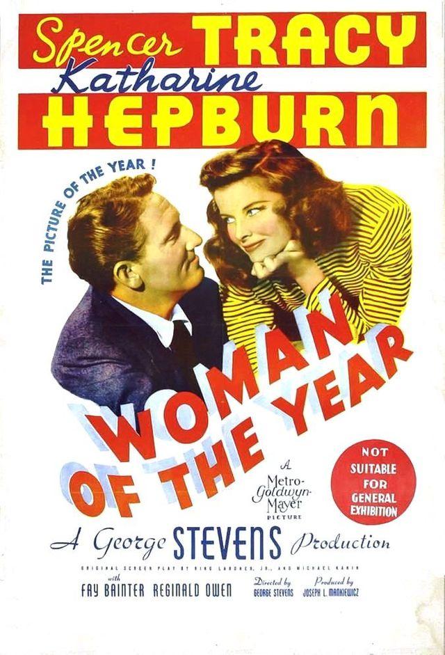 La femme de l'année (affiche)