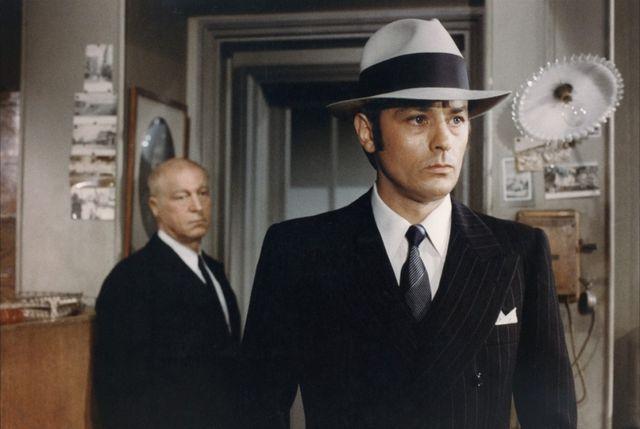 Daniel Ivernel et Alain Delon dans Borsalino & Co.