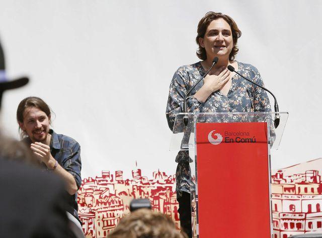 """Ada Colau, l'une des figures de proue du mouvement des """"indignés"""" en Espagne."""
