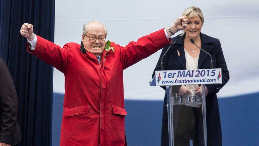 Jean-Marie Le Pen, le 1er mai dernier lors de la manifestation du FN