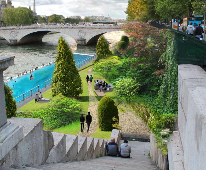 Berges de Seine rive droite projet NKM