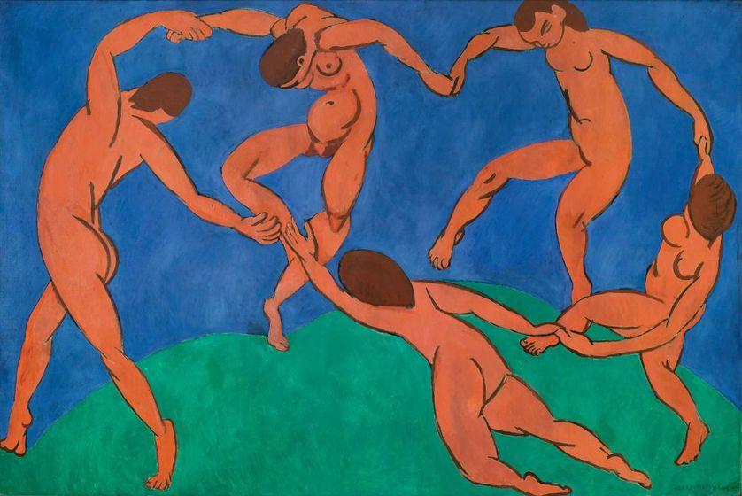 Henri Matisse, La Danse, 1909-1910, Saint-Pétersbourg, musée de l'Ermitage. Huile sur toile, 260 × 391 cm