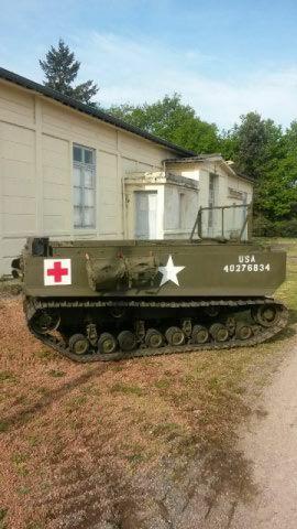 Weasel véhicule américain de 1944  qui permettait de passer partout quand les Jeep ne le pouvaient plus.