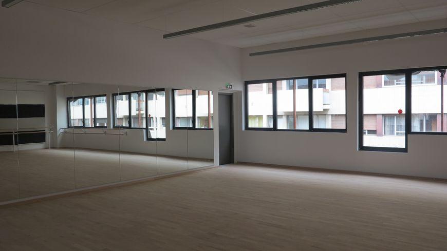 Une des deux nouvelles salles de danse du conservatoire de Perpignan
