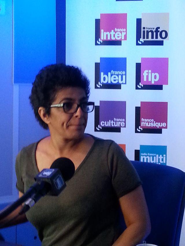 Samira Sedira pendant l'enregistrement de l'émission