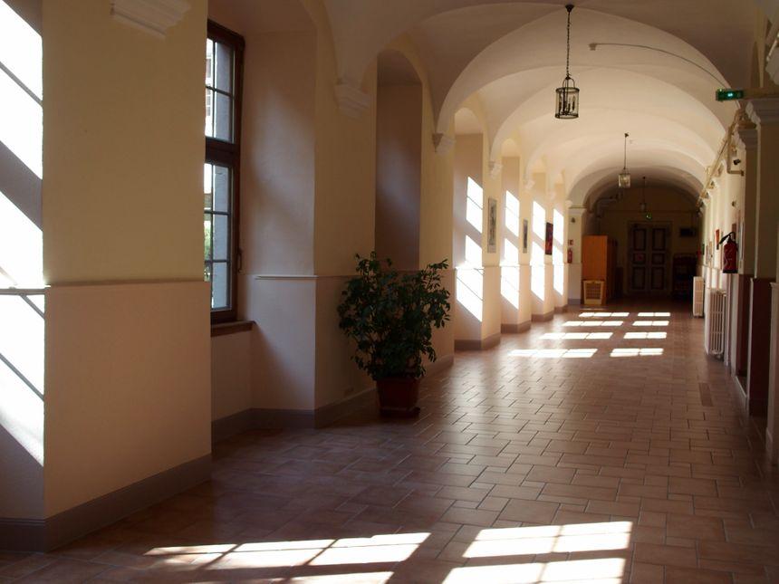 Ebersmunster, les couloirs de l'abbaye