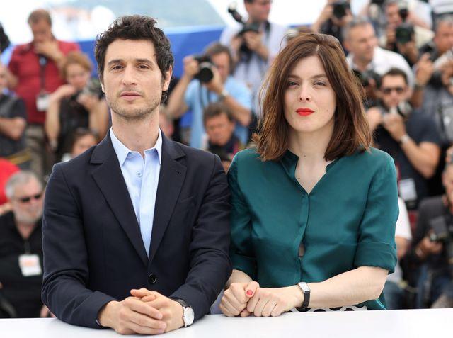 """Valerie Donzell et Jeremie Elkaim durant le photocall du film """"Marguerite & Julien"""", CANNES LE 19/05/2015."""