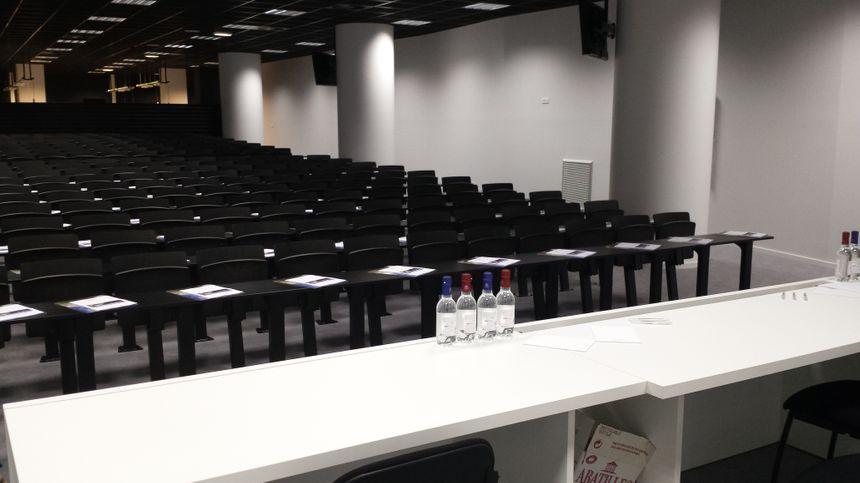 L'amphithéâtre de 250 places du Nouveau Stade de Bordeaux