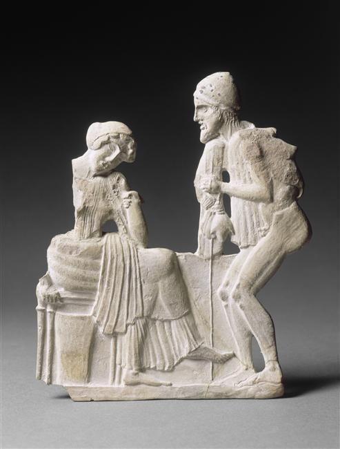 Relief : Pénélope et Ulysse
