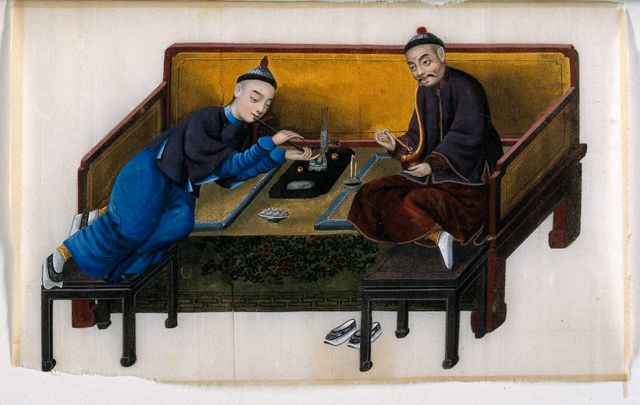 Two wealthy Chinese opium smokers