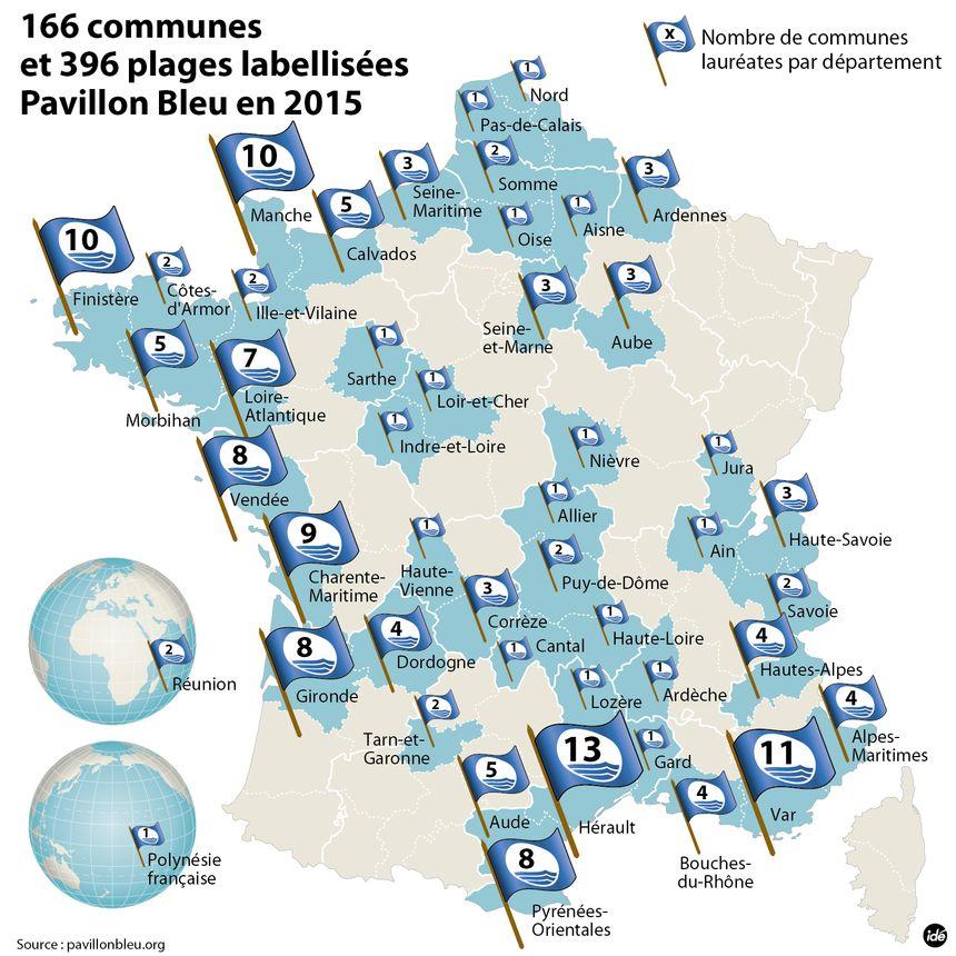 Pavillon Bleu : où sont les communes labélisées ?