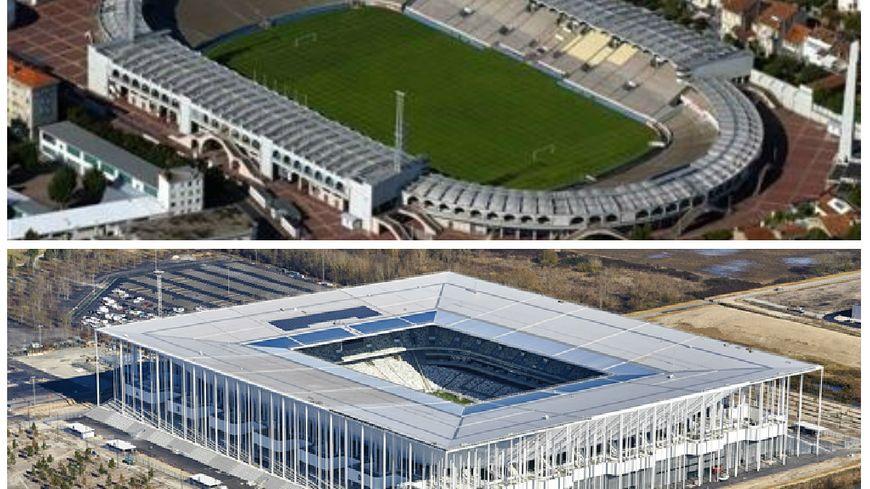 Le stade Chaban-Delmas et le Nouveau Stade de Bordeaux