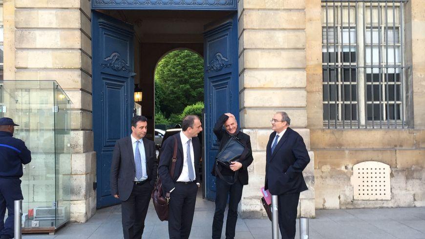 La délégation Corse reçue au ministère de la justice (Photo Patrick Vinciguerra)