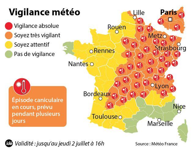 47 départements en vigilance orange