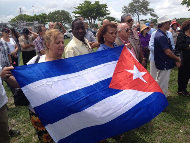 drapeaux Cuba Miami