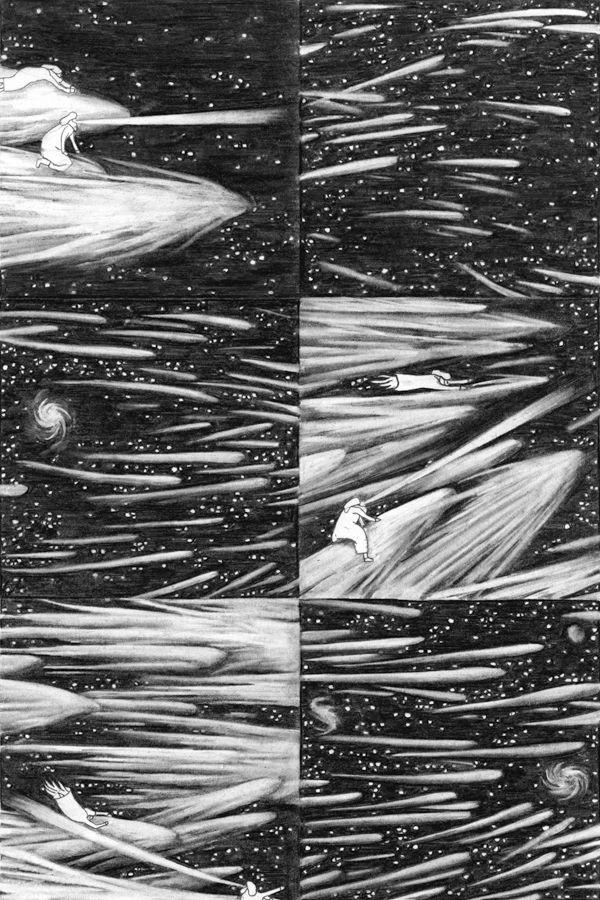 Le Voyage céleste extatique, un livre illustré de Clément Vuillier