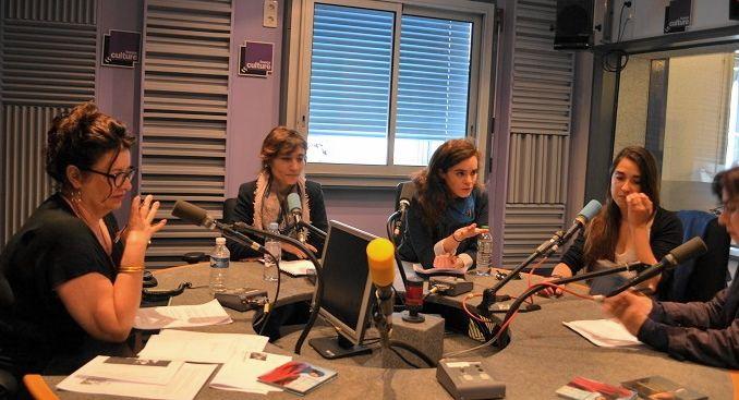 France Culture, studio 153 ... Aline Pailler, Anne Jeanvoine, Noëmi Waysfeld, Alya Nazaraly & Laetitia Coïa (de g. à d.)