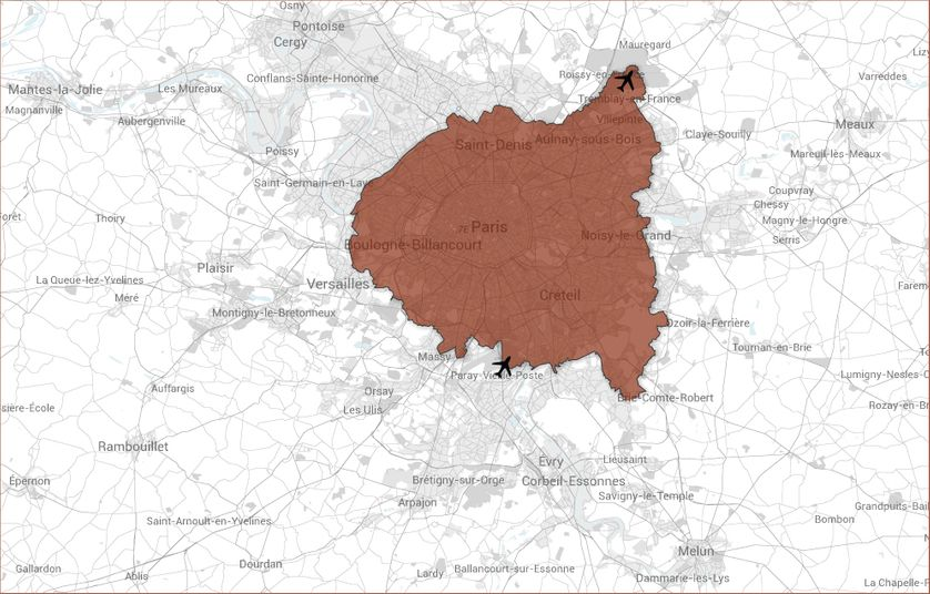 Métropole du Grand Paris Paris + 123 communes