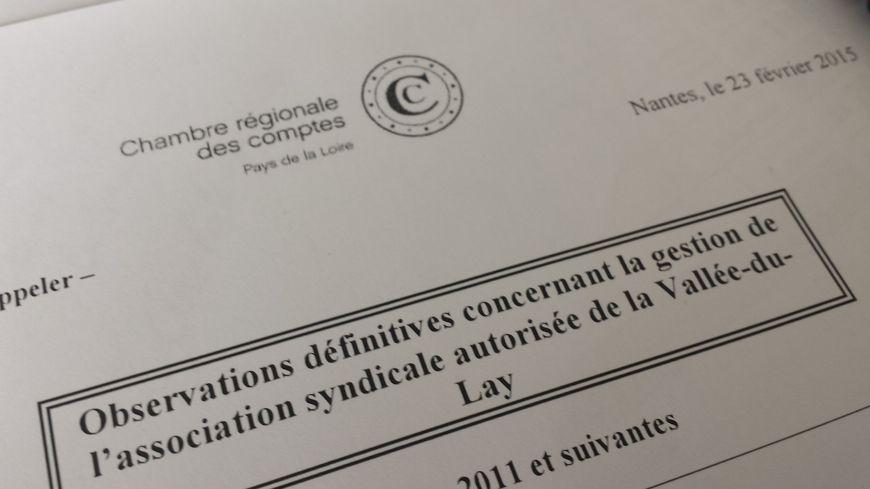 Digues de l'Aiguillon sur mer : le rapport accablant de la Chambre des Comptes