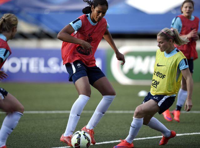 L'équipe de France féminine à l'entraînement.