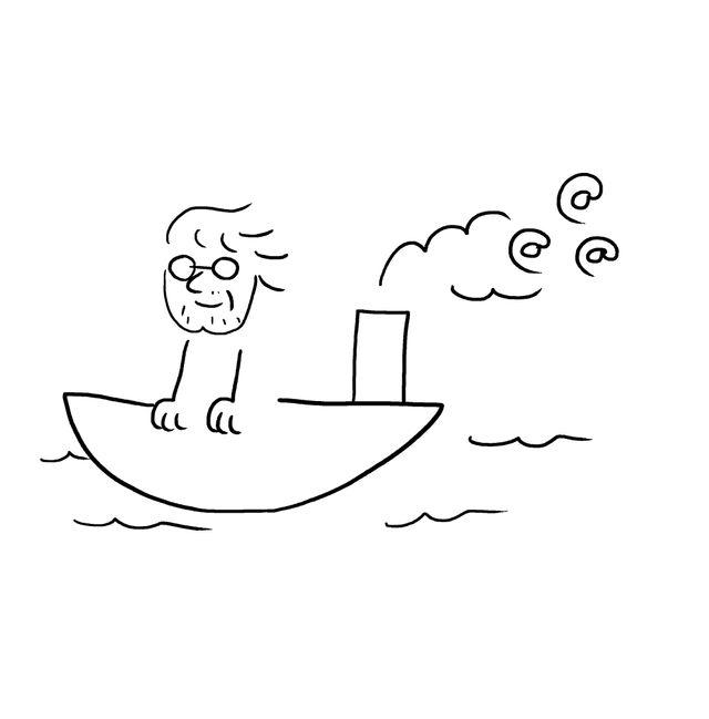 Dick Annegarn sur son bateau