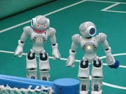 Robots de la NAO-Team joueurs de football lors de l'HTWK Leipzig (RoboCup German Open (de)).