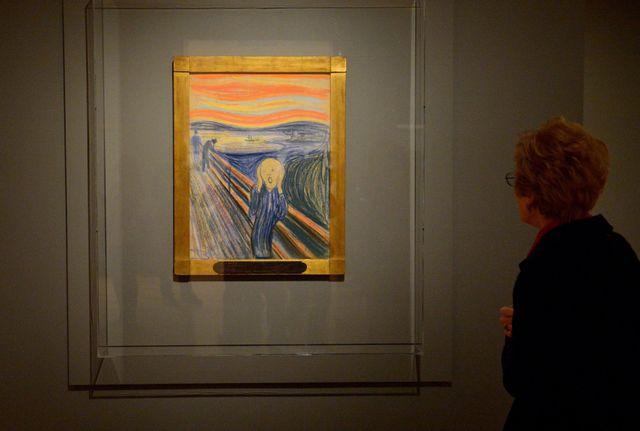 """""""Le Cri"""" d'Edvard Munch, ici au MoMA de New-York"""