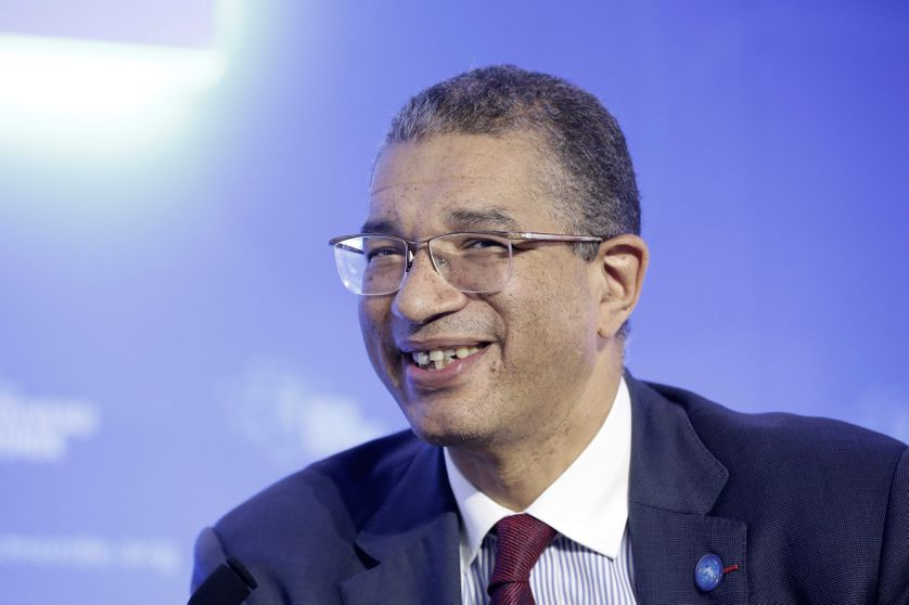Lionel Zinsou à Paris, le 8 octobre 2014, au Forum Nouveau Monde, au siège de l'OCDE