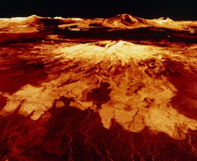 Sapas Mons, un volcan situé sur la planète Vénus