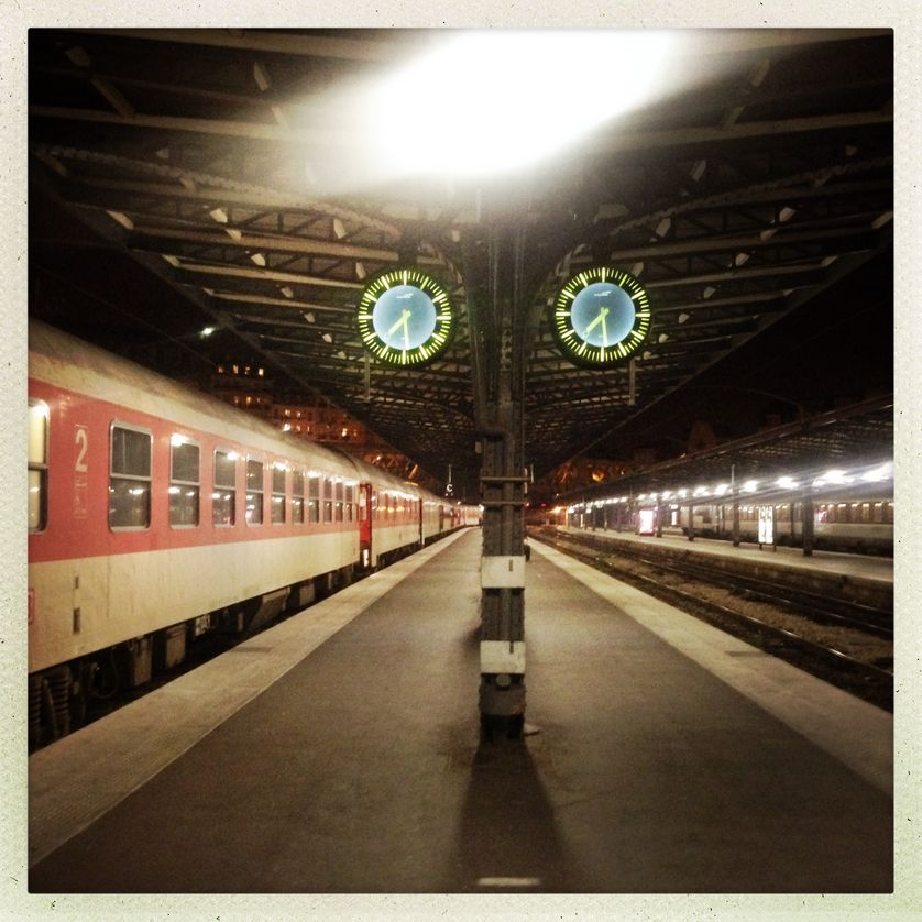 Train de nuit Paris-Berlin, sur le quai
