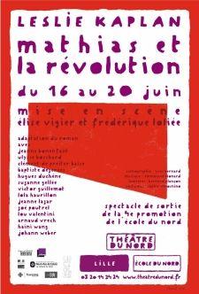 L'affiche de Mathias et la Révolution